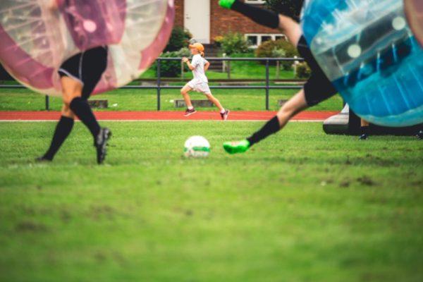 Bumper ball fodbold kamp