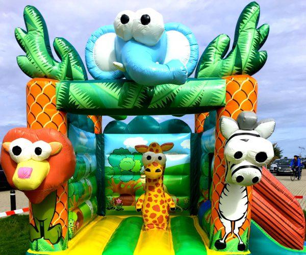Safari hoppeborg med rutchebane