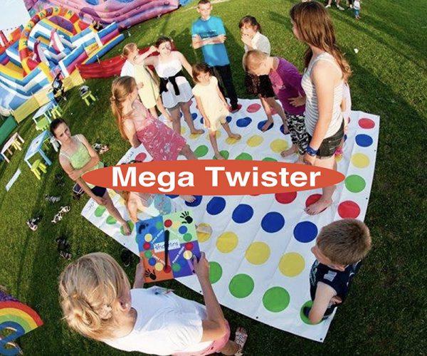 Udlejning af spillet Mega Twister