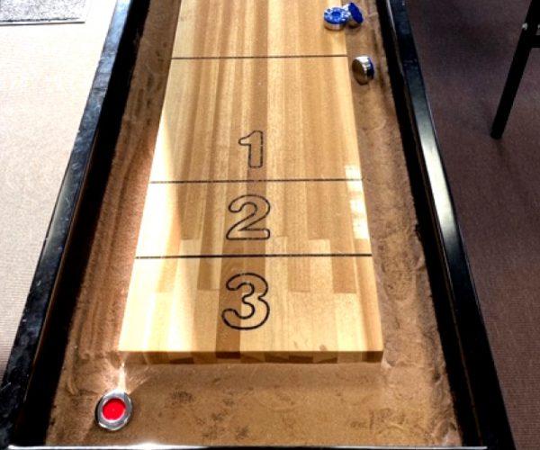 Håndlavet shuffleboard