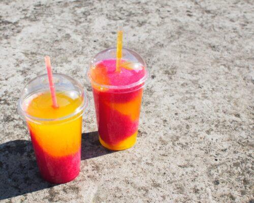 Lækre blandet Slush Ice i sommervarmen